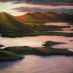 "Sunrise in Carsiveen 20"" x 26"" Framed with fillet"