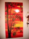 BAMBOO SUNSET by Murals by Renee