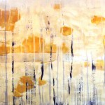 Gold Abstract Acrylic Painting Karen Lawson