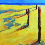 landscape of the beach abstract painting2