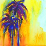 nt two blue palm trees expressionist art raw