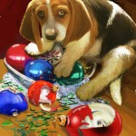 Puppy, Ornaments, OOPS (5x6 XMas Image)