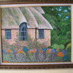 English Cottage Framed